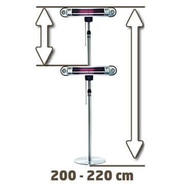 Einhell Halogen Heizung IHS 1500 Watt